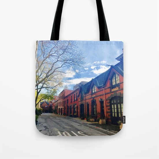 STOP For Brooklyn Heights Brownstone Red Brick Love Tote Bag
