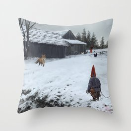 competitors Throw Pillow