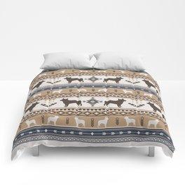 Boho dogs | Australian cattle dog tan Comforters