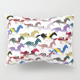Off to the Horse Races Jockey Silk Pattern Pillow Sham