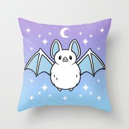 Cute Night Bat Throw Pillow