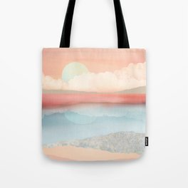 Mint Moon Beach Tote Bag