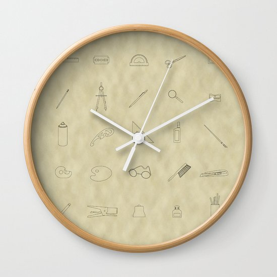 Drawing tools Wall Clock