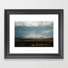Dust Storm Framed Art Print