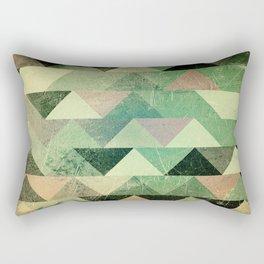 Triangle vintage green based1 Rectangular Pillow