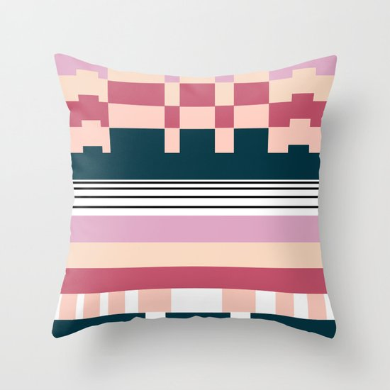 Raspberry Parfait Throw Pillow