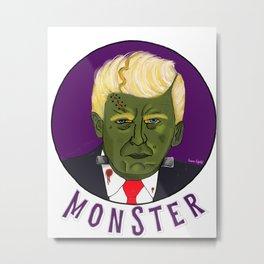 Trumpensteins Monster Halloween Scary Trump Metal Print