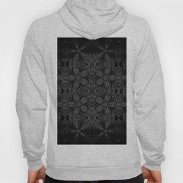 Black Slate Gray Floral Pattern Hoody