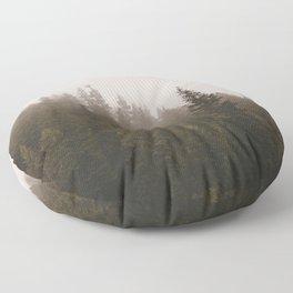 Elevation Drop - Foggy Forest PNW Floor Pillow