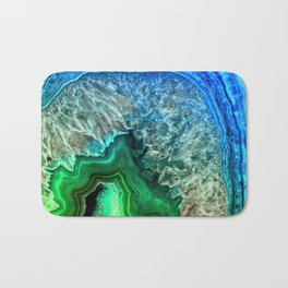 Turquoise Green Agate Mineral Gemstone Bath Mat