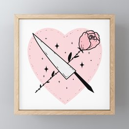 Gentle but Deadly Framed Mini Art Print