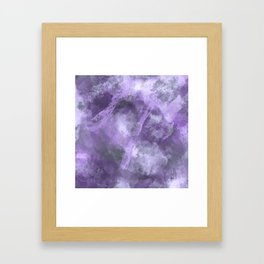 Stormy Abstract Art in Purple and Gray Framed Art Print