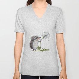 Hedgehog & Dandelion Unisex V-Neck