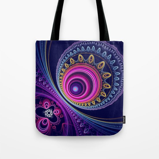 Colourful circles and patterns Tote Bag