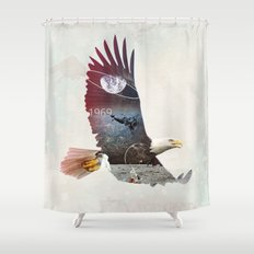 The Eagle Shower Curtain