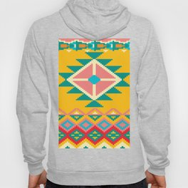 Yellow Native Aztec Hoody