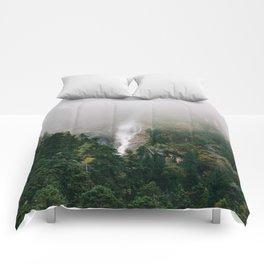 Misty Mountain Morning Comforters