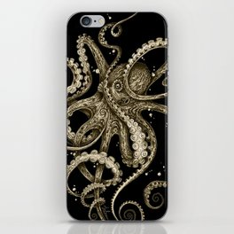 Octopsychedelia Sepia iPhone Skin