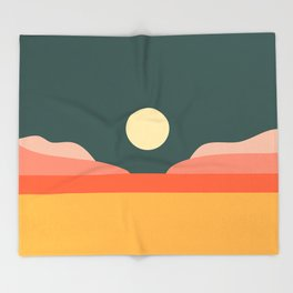Geometric Landscape 14 Throw Blanket