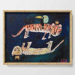 Tiger, Cheetah, Toucan Painting Serving Tray