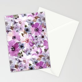 FLOWERS WATERCOLOR 15 Stationery Cards