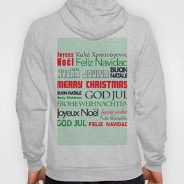 different languages III merry christmas Hoody