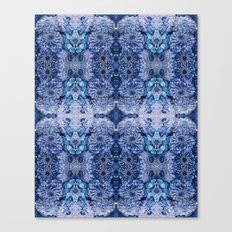 Frozen floral, nature, woodland, hippie, mandala, psychedelic Canvas Print
