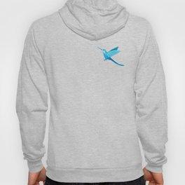 Blue hummingbird colibri Hoody
