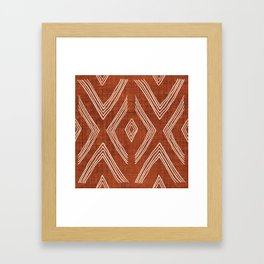 Birch in Rust Framed Art Print