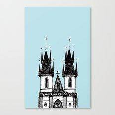 Tyn Church - Prague Canvas Print