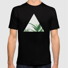 Succulents Black SMALL Mens Fitted Tee