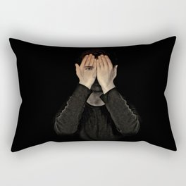 Eyes did not see, mind did not look Rectangular Pillow