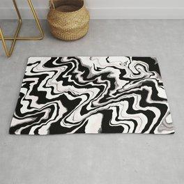 Zebra like pattern.Liquified,marble effect decor Rug