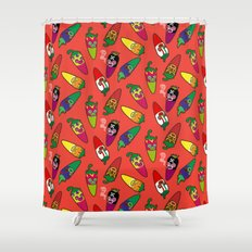 Red Hot Chili Pattern 01 Shower Curtain