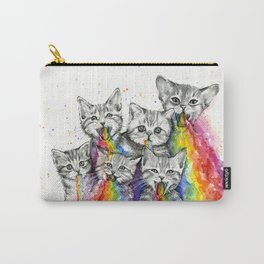 Kittens Puking Rainbows Carry-All Pouch