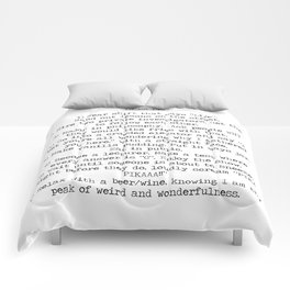 To Do List- have more fun. Comforters