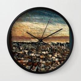 Napoli Skyline Wall Clock