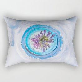 Purple lupines - tiny planet Rectangular Pillow