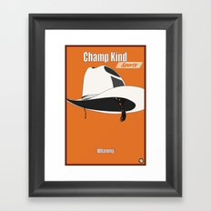 Champ Kind: Sports Framed Art Print