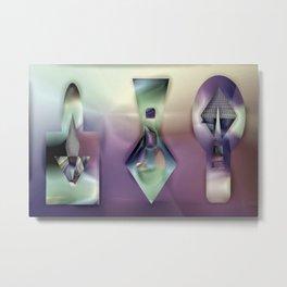 Artist's tools on evening ... Metal Print