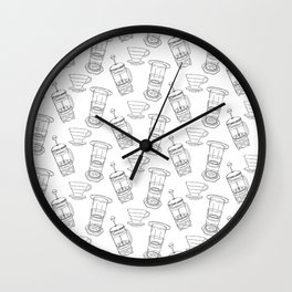 Coffee Brewing Pattern Wall Clock