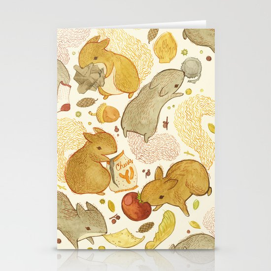 Things Squirrels Probably Shouldn't Be Eating Stationery Cards