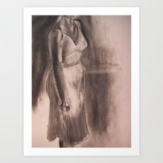 One White Dress Art Print