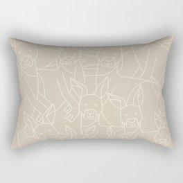 Minimalist Kangaroo Rectangular Pillow