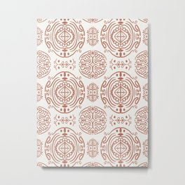 Nordic Clay #society6 #pattern Metal Print