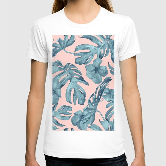 Island Life Teal on Light Pink by followmeinstead