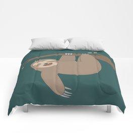 Cute Happy Sloth Comforters