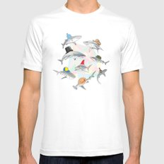 Hats On Mens Fitted Tee MEDIUM White