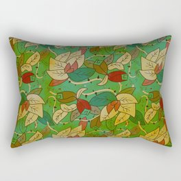Floral, blood and thorn pattern Rectangular Pillow