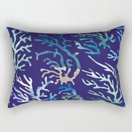 underwater blue corals Rectangular Pillow